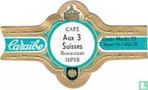 Café Aux 3 Suisses Restaurant Ypres - Caraïbe - Grote Markt 25 T.Ieper 057 / 212.56