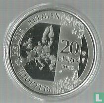 "Belgium 20 euro 2018 (PROOF) ""50 years Launch of the first successful European Satellite ESRO - 2B"""