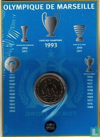 "France 1½ euro 2011 (folder) ""Olympique de Marseille"""