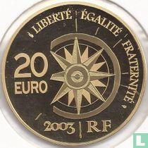 """Frankrijk 20 euro 2003 (PROOF) """"The Normandie"""""""