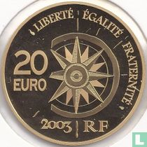 "Frankrijk 20 euro 2003 (PROOF) ""The Orient - Express"""