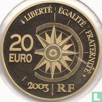 "Frankrijk 20 euro 2003 (PROOF) ""Paris - Tokyo Flight"""