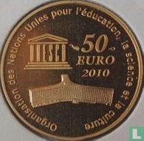 "France 50 euro 2010 (PROOF) ""Taj Mahal"""