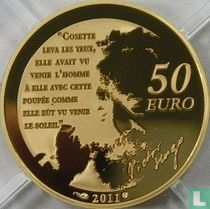 "Frankrijk 50 euro 2011 (PROOF) ""Heroes of the French literature - Cosette"""
