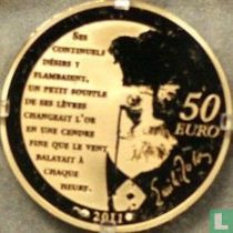 """France 50 euro 2011 (PROOF) """"Heroes of the French literature - Nana"""""""