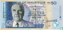 Mauritius 50 Rupees 2009