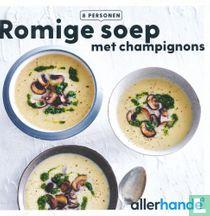 Romige soep met champignons