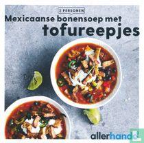 Mexicaanse bonensoep met tofureepjes