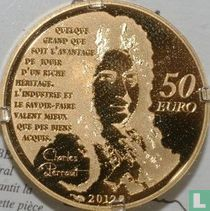 """France 50 euro 2012 (PROOF) """"Heroes of the French literature - Puss in Boots"""""""