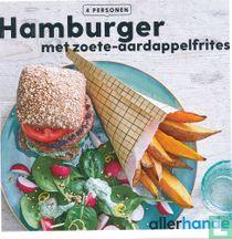 Hamburger met zoete-aardappelfrites