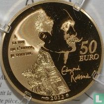 """France 50 euro 2012 (PROOF) """"Heroes of the French literature - Cyrano de Bergerac"""""""