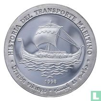 """Arabische Democratische Republiek 1000 pesetas 1998 (PROOF) """"Viking Ship"""""""