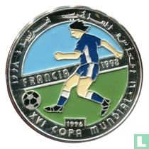 """Arabische Democratische Republiek 500 pesetas 1996 (PROOF) """"XVI Copa Mundial - Francia 1998 - Soccer"""""""