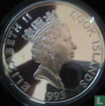 """Cookeilanden 50 dollars 1993 (PROOF) """"500 years of America - Diego de Velasques"""""""