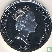 """Cookeilanden 50 dollars 1990 (PROOF) """"500 Years of America - Samuel de Champlain"""""""