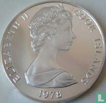 "Cookeilanden 5 dollars 1978 ""250th anniversary Birth of James Cook"""