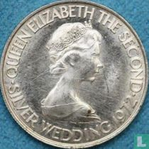 """Jersey 50 pence 1972 """"25th Wedding anniversary of Queen Elizabeth II and Prince Philip"""""""