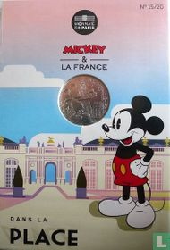 "Frankrijk 10 euro 2018 (folder) ""Mickey & France - Place Stanislas of Nancy"""