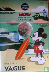 "Frankrijk 10 euro 2018 (folder) ""Mickey & France - surfing in Biarritz"""