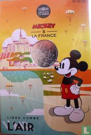 "Frankrijk 10 euro 2018 (folder) ""Mickey & France - Mont St Michel"""