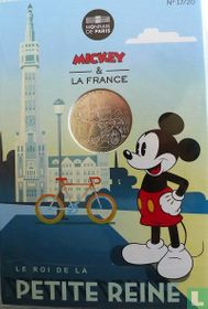 "Frankrijk 10 euro 2018 (folder) ""Mickey & France - Belfry of Lille"""