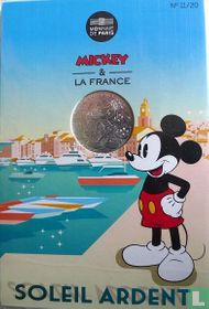 "Frankrijk 10 euro 2018 (folder) ""Mickey & France - Saint Tropez"""