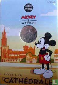 "Frankrijk 10 euro 2018 (folder) ""Mickey & France - Cathedral of Strasbourg"""