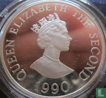 "Alderney 2 pounds 1990 (PROOF - zilver) ""90th anniversary of the Queen Mother"""