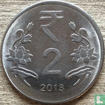 India 2 rupees 2013 (Calcutta)