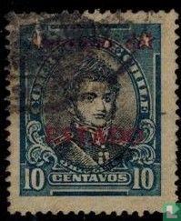 Bernardo O'Higgins met opdruk