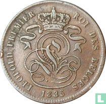 België 2 centimes 1835 (Smalle rand)