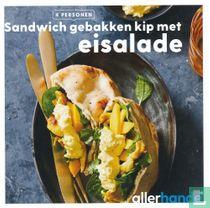 Sandwich gebakken kip met eisalade