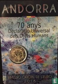 "Andorra 2 euro 2018 (coincard - Govern d'Andorra) ""70 years Universal Declaration of Human Rights"""