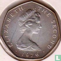 Man 50 pence 1976 (zilver)