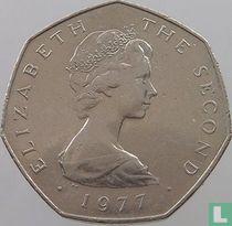 Man 50 pence 1977