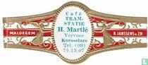 Café Tram-statie H. Martlé Vervoer Knesselare Tel. (09) 74.13.07 - Maldegem - R. Janssens & Zn
