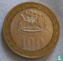 Chili 100 pesos 2012