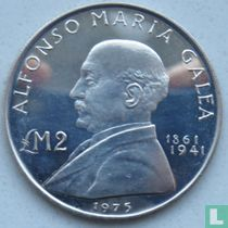 "Malta 2 pounds 1975 ""Alfonso Maria Galea"""
