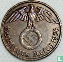 Duitse Rijk 1 reichspfennig 1936 (hakenkruis - J)