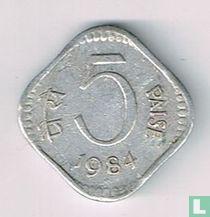 India 5 paise 1984 (Hyderabad)