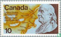 Benjamin Franklin and Map