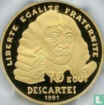 "Frankrijk 500 francs / 70 écus 1991 (PROOF - goud) ""René Descartes"""