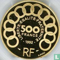 """Frankrijk 500 francs / 70 écus 1992 (PROOF - goud) """"Jean Monnet"""""""