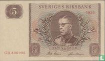 Schweden 5 Kronor 1955
