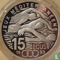 """Frankrijk 100 francs / 15 écus 1993 (PROOF) """"Mediterranean Games - Swimming"""""""