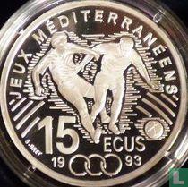 """Frankrijk 100 francs / 15 écus 1993 (PROOF) """"Mediterranean Games - Football"""""""