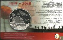 "Belgium 5 euro 2018 (coincard) ""Centenary of the First World War Armistice"""