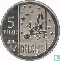 """Belgium 5 euro 2016 """"50th anniversary of the death of Georges Lemaître"""""""