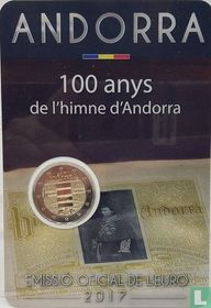 "Andorra 2 euro 2017 (coincard - Govern d'Andorra) ""100 years Hymn of Andorra"""