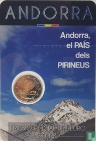 "Andorra 2 euro 2017 (coincard - Govern d'Andorra) ""Andorra - the Country of Pyrenees"""